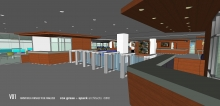Gelman Interior Concept View from 2nd Floor Entrance