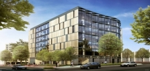 Project Exterior Perspective - View from Washington Circle