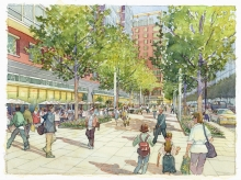 Square 54 I St East View Concept Image