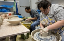 Ceramic making candid