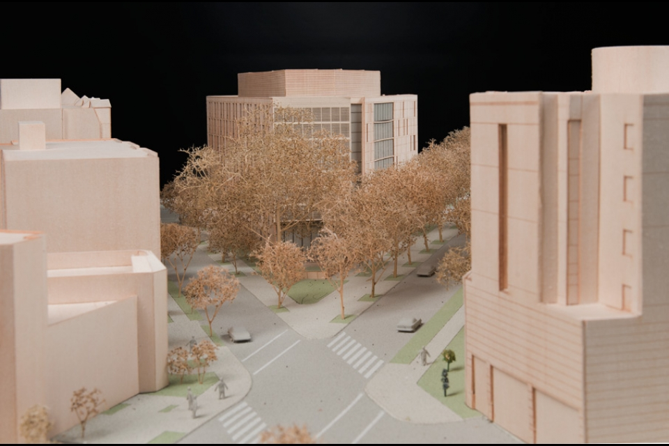 Model View from South Facade