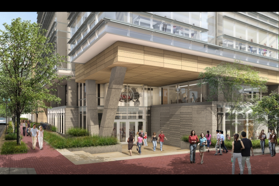 Drawing of SEH 22nd and H Street Entrance